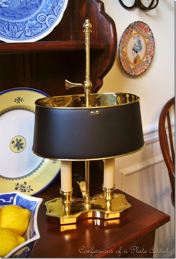 CONFESSIONS OF A PLATE ADDICT: My New Love...My Bouillotte Lamp