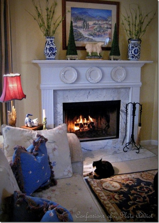 straight fireplace
