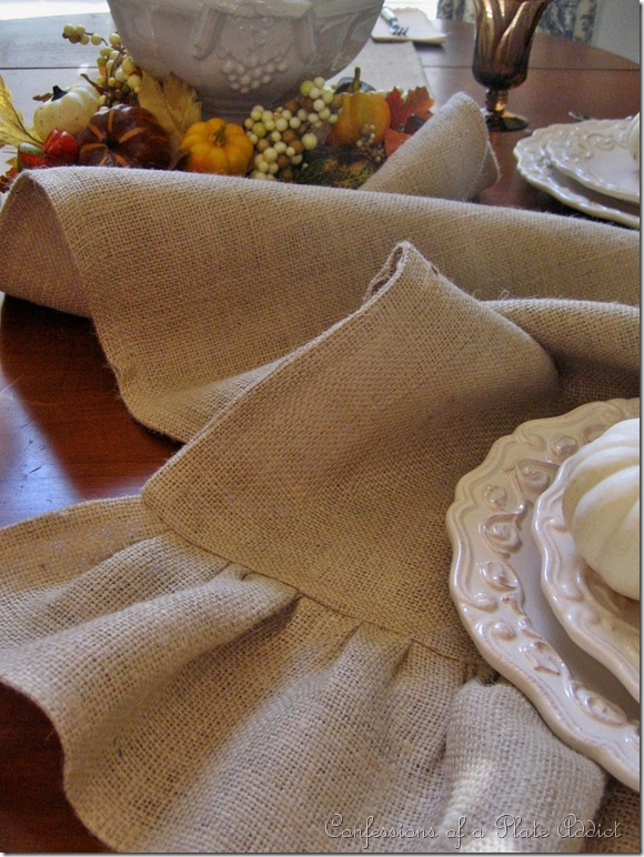 CONFESSIONS OF A PLATE ADDICT Ruffled Burlap Table Runner