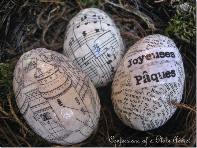 CONFESSIONS OF A PLATE ADDICT French Découpage Eggs