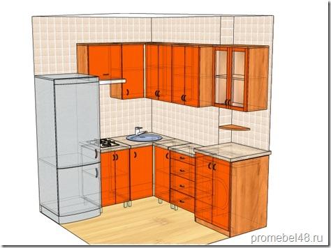 проект маленькой кухни 6 кв.м.