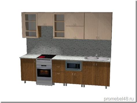 проект прямой кухни