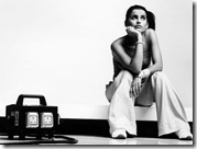 Nelly Furtado Black White Desktop Wallpaper 1024x768
