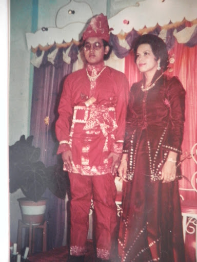 Ayah & Ibu on their wedding