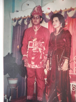 Ayah & Ibu on their wedding day