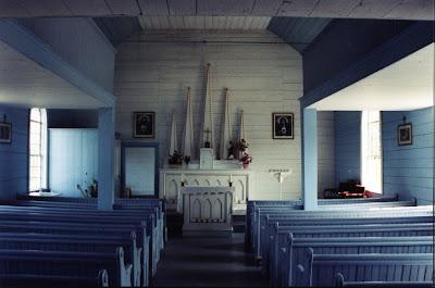 The interior of Saint Margaret of Scotland Church.