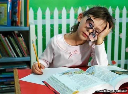 Aburrimiento de estudiar