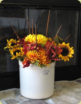 autumn flower display