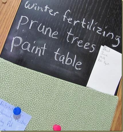 chalkboard corkboard organization