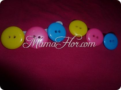Ganchitos de Botones de colores