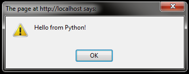Hello from Python!