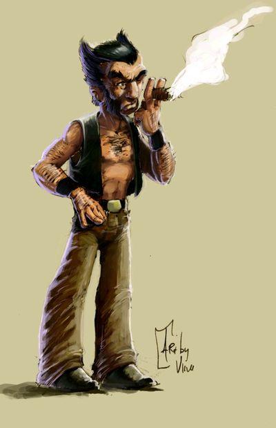 L'atelier de Vince Wolverinecolored