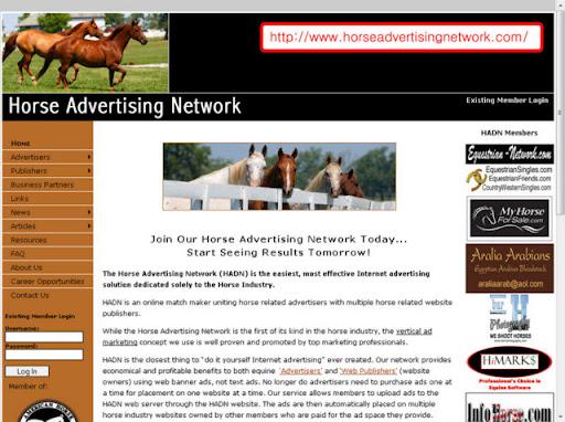 The Horse Advertising Network http://www.horseadvertisingnetwork.com/