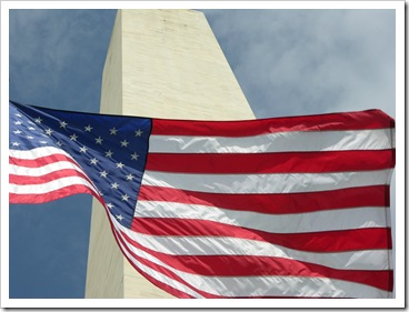 Flag and Washington Monument