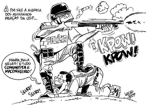 Charge gentilmente cedida pelo cartunista Carlos Latuff