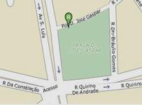 Praça Dom José Gaspar, região central. Clique e veja mapa ampliado.