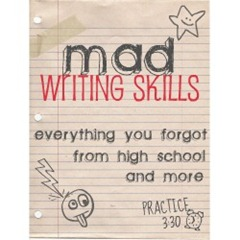 mad writing skills button