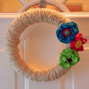 mad in crafts summer wreath