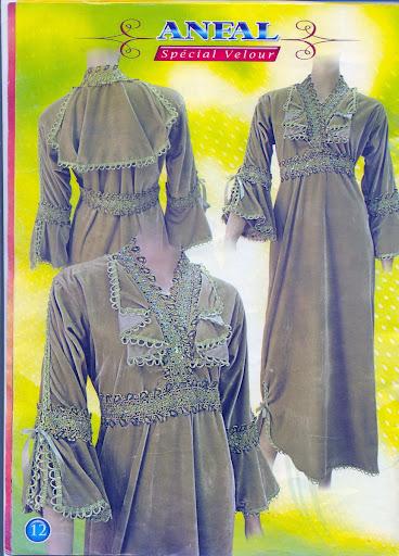 مجلة أنفال فساتين القطيفة algerian-home-clothe