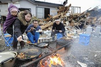 日本灾区的劫后生活