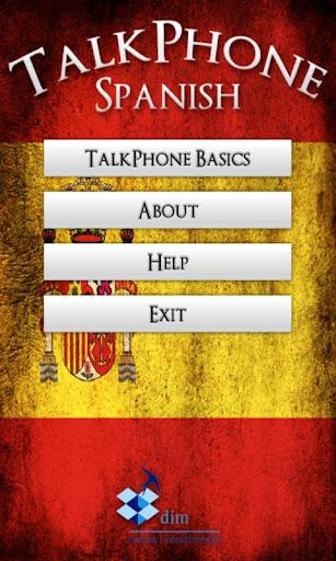 TalkPhone Spanish Basics