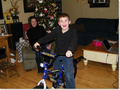 Blaine got a Rockit bike for his 7th birthday