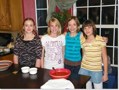 Carsen, Haley, Lydia, Makyla