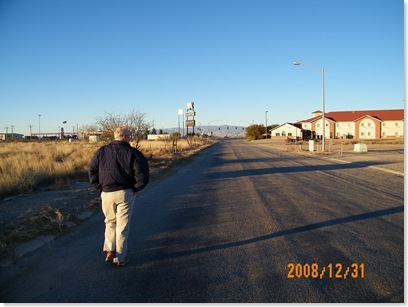 walking to dinner in Willcox