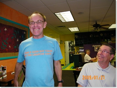 James and his famous smile at the Creative Cafe, CG