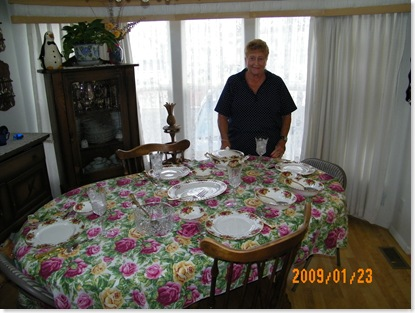 Ellie Bowen and the beautiful table
