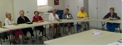 Pat Sublett, Barb Steiner, Mary Steinmetz, Betty Livingston, Donna, Judy Gardner, Pat