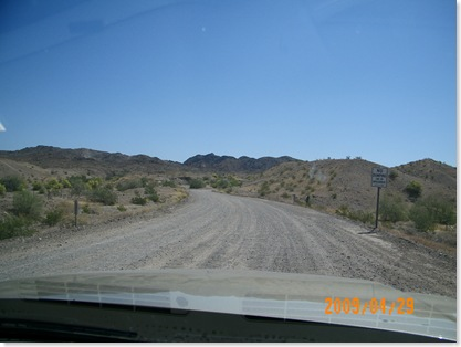 Cienega Springs Road to Nelly's Desert Saloon about 5 miles