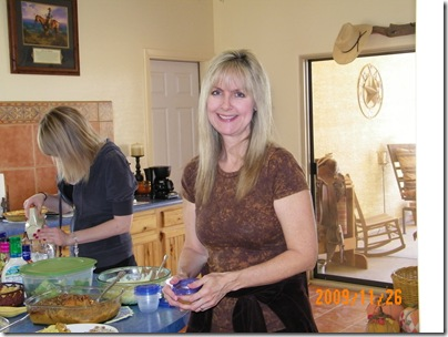 the very lovely Lori Pruit, our hostess for Thanksgiving dinner