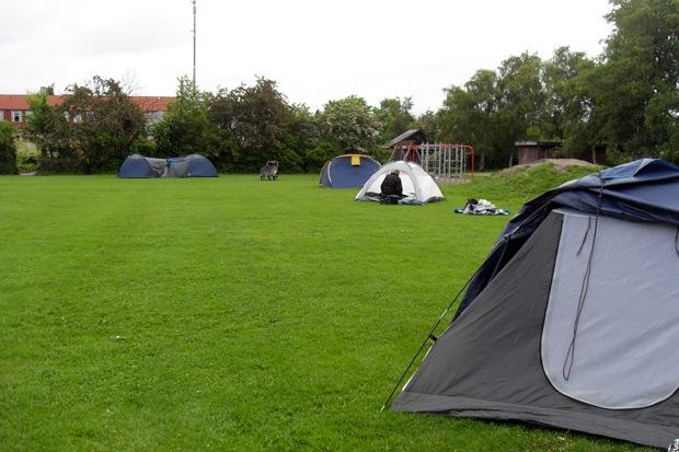 teltnedlægning