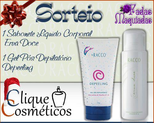 Sorteio Racco by Clique Cosmético