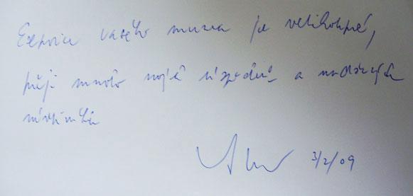 Факсиміле відгуків про музей Антоніо Мургаша