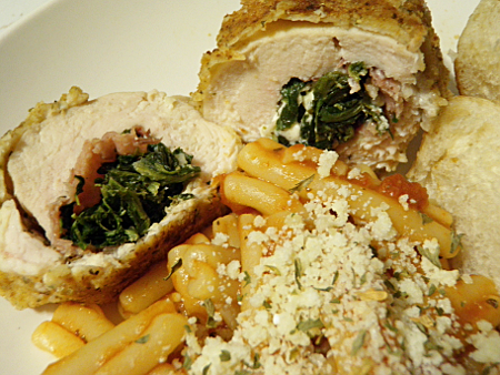 Chicken Roulades with Feta, Spinach, & Prosciutto | Something Savory