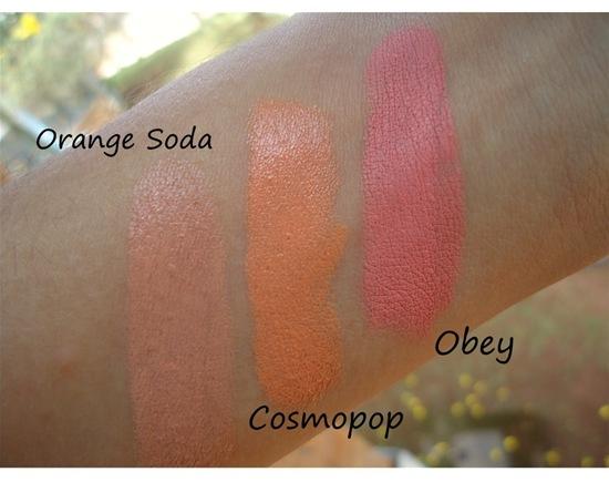 Cosmopop Comparação Swatches