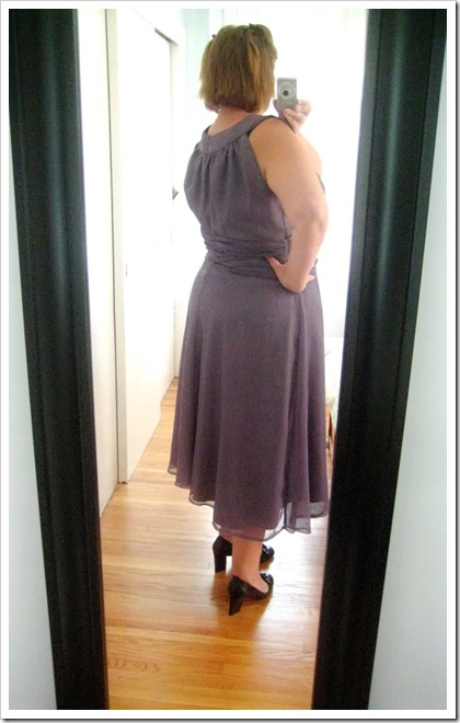 From the vault… Butterick 5348 and 4657 franken-dress. What doesn't work.