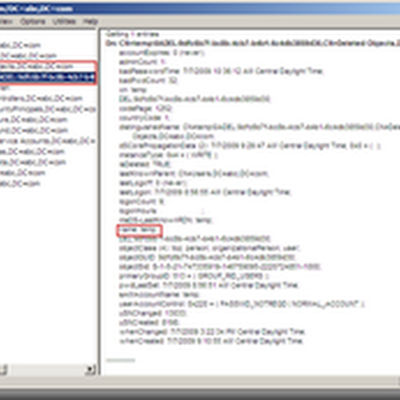 Server 2008 R2 Recycle Bin: Restoring a deleted object