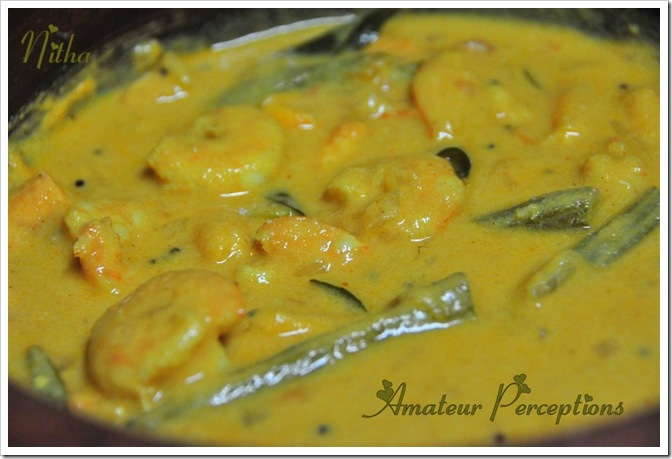 Prawns in Coconut Gravy 9