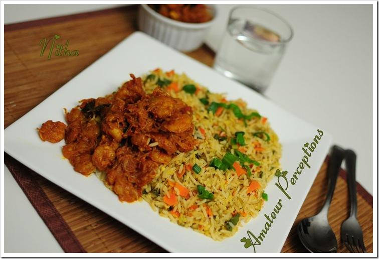 Fried Rice - Goan Shrimp Balchao 3