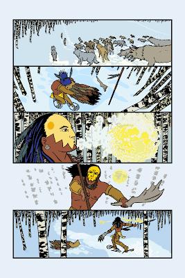 Réfugié dans les bois, Deux Lunes sait quil ne peut échapper à son destin!