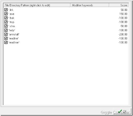 wallpaper scoring tool. Pattern scoring: files will be