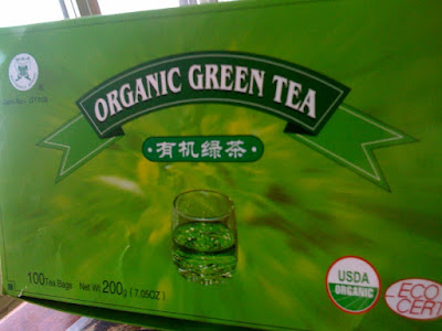 Fujian's Butterfly Brand Organic Green Tea, from the Lin Asian Food Market, Milford, CT