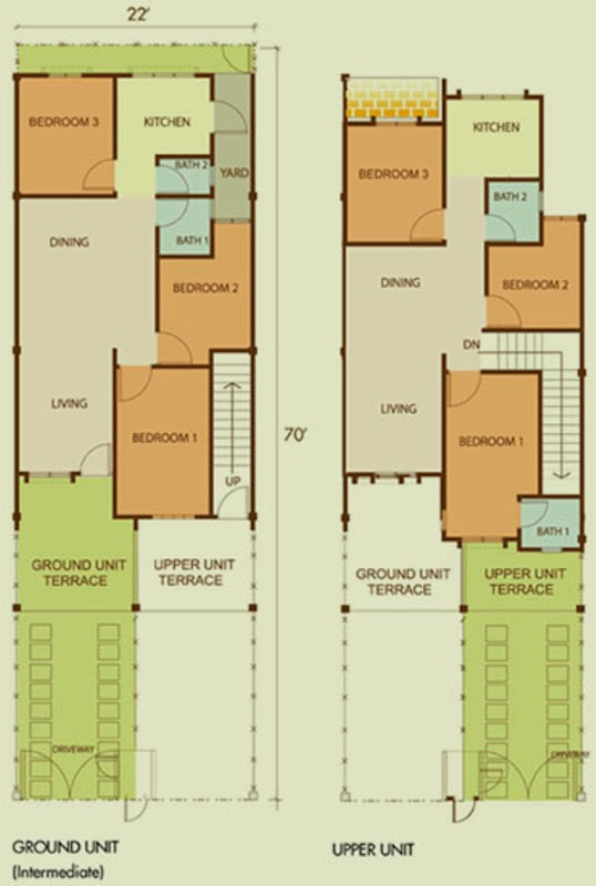 Single story house plans malaysia for Quadruplex floor plans