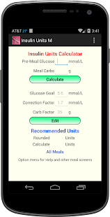 Insulin Units M screenshot for Android