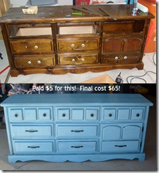 before after tv dresser