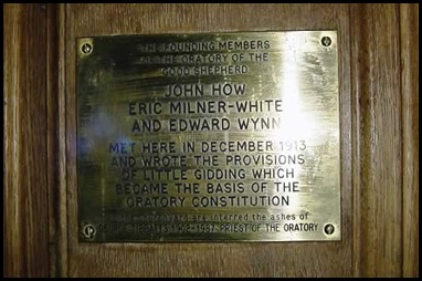 Little Gidding Oratory Foundation Plaque