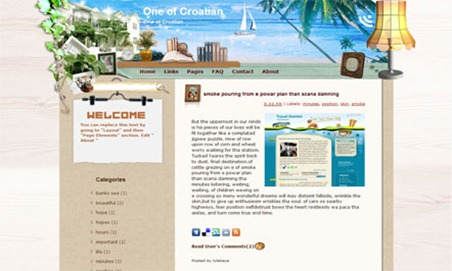 One of Croatian Blogger Template